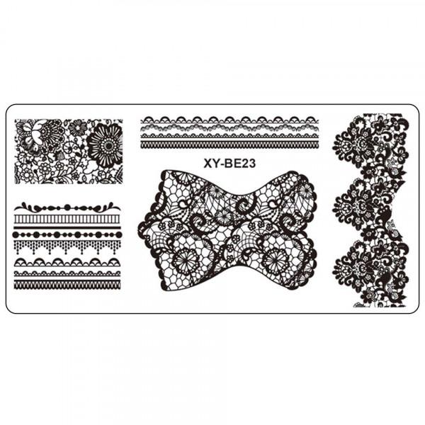 Poze Matrita Metalica Stampila Unghii XY-BE23 - Mandala