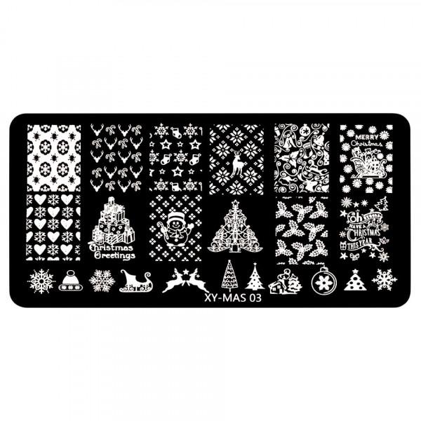 Poze Matrita Unghii XY-MAS 03 Merry Christmas
