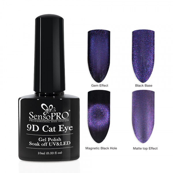 Poze Oja Semipermanenta 9D Cat Eye #11 Antares - SensoPRO 10 ml
