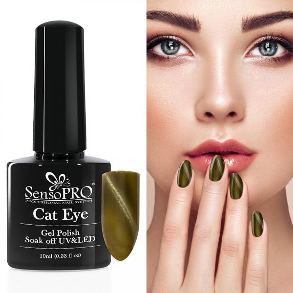 Poze Oja Semipermanenta Cat Eye SensoPRO 10ml - #006 Seafoam