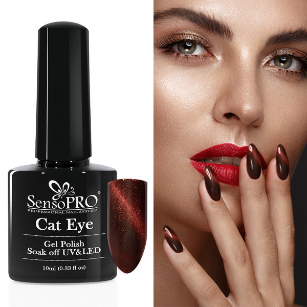Poze Oja Semipermanenta Cat Eye SensoPRO 10ml - #018 GoodGossip