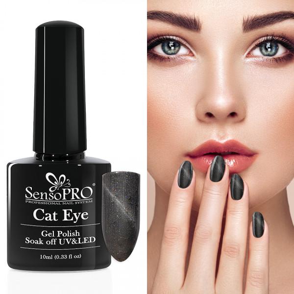 Poze Oja Semipermanenta Cat Eye SensoPRO 10ml - #041 Intense Grey