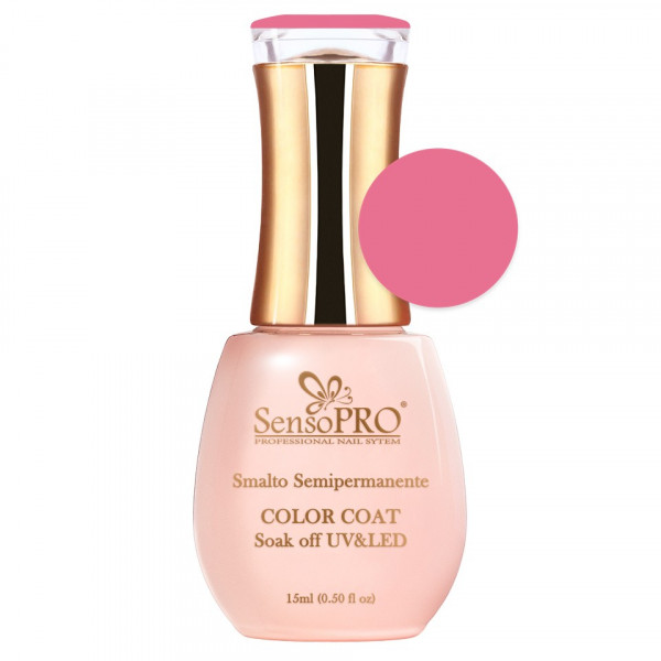 Poze Oja Semipermanenta SensoPRO 15ml culoare Roz - 025 Pink Topping