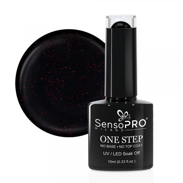 Poze Oja Semipermanenta SensoPRO Milano One Step 10ml, Mysterious Black #044