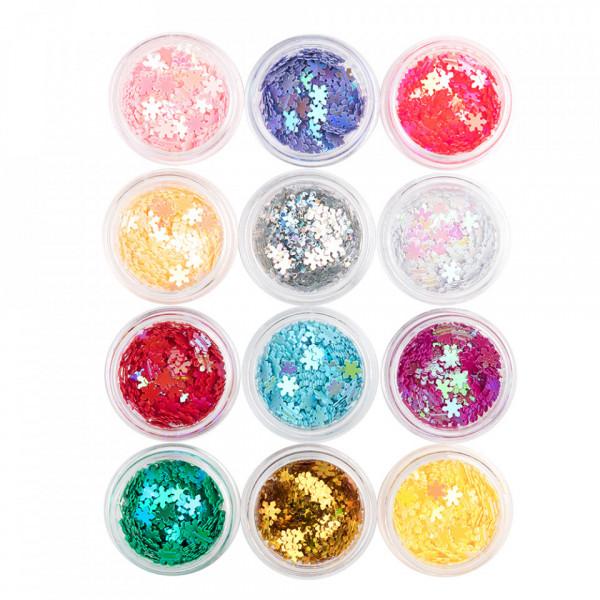 Poze Paiete Unghii Model Fairy Stars - Set 12 Bucati