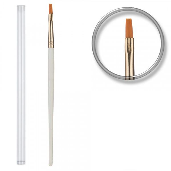 Poze Pensula unghii aplicare gel UV nr.6 cu etui tubular - Golden Brush