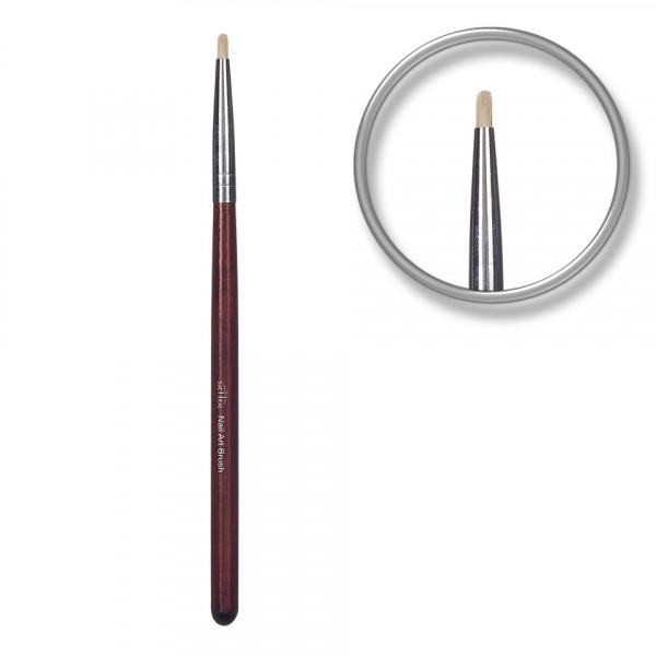 Poze Pensula unghii aplicare glitter si pigmenti Maroon Library
