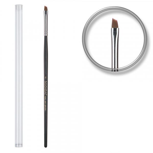 Poze Pensula unghii profesionala aplicare gel Nr. 4 - Rusty Black