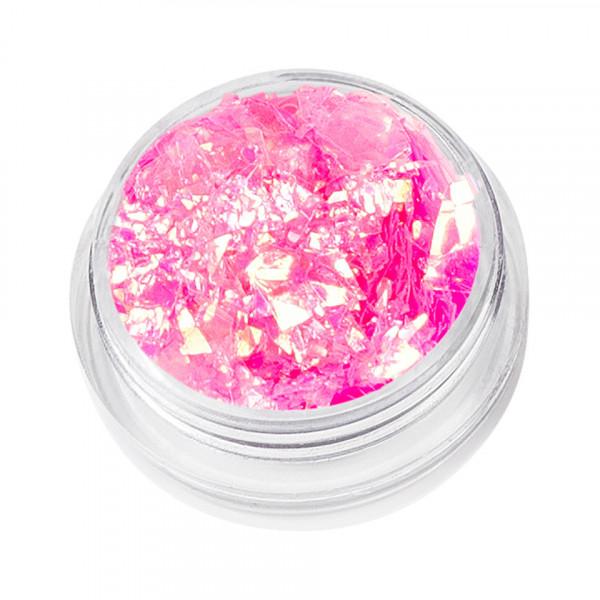 Poze Sclipici Unghii Model Fulgi de Gheata - Pink Sensation, 5 g