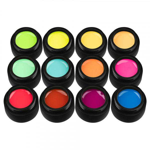 Poze Set 12 Geluri UV Colorate Neon City Collection, SensoPRO Milano