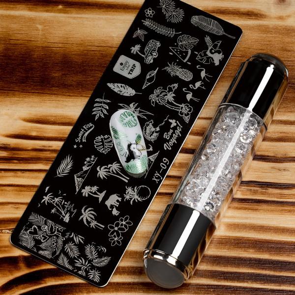Poze Set Stampila Unghii + Matrita Crystal Nail Art, XY-09 - SensoPRO Milano