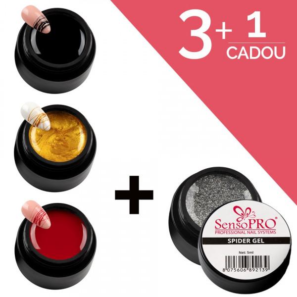 Poze Set Unghii Spider Gel SensoPRO 3+1 Cadou