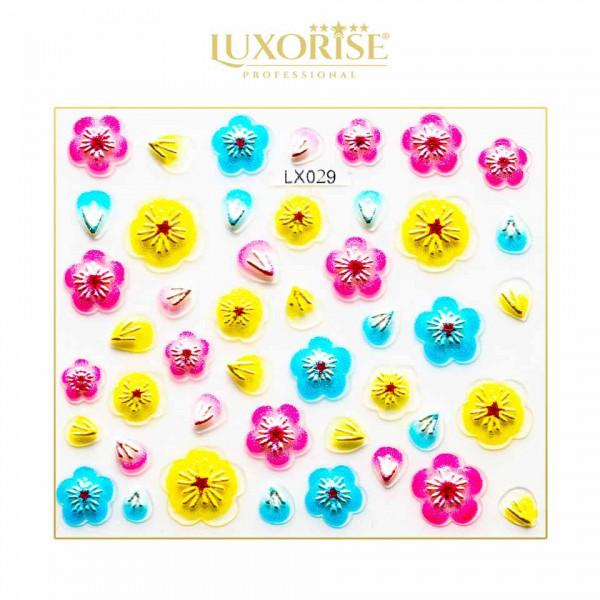 Poze Sticker 3D Unghii LUXORISE Artistry LX029