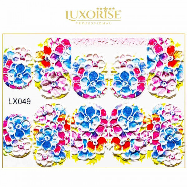 Poze Tatuaj 3D Unghii LUXORISE Artistry LX049