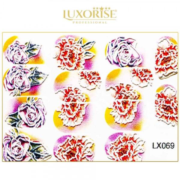Poze Tatuaj 3D Unghii LUXORISE Artistry LX069