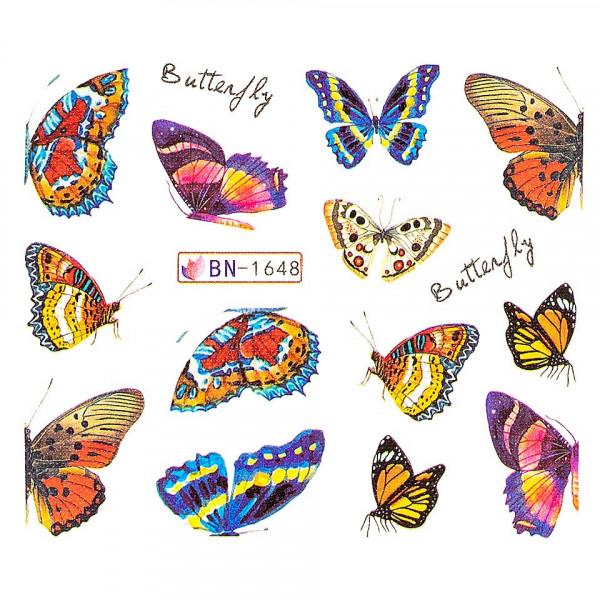 Poze Tatuaj unghii LUXORISE, Butterfly BN-1648