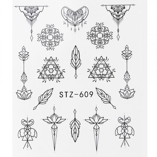 Poze Tatuaj unghii STZ-609 abstract