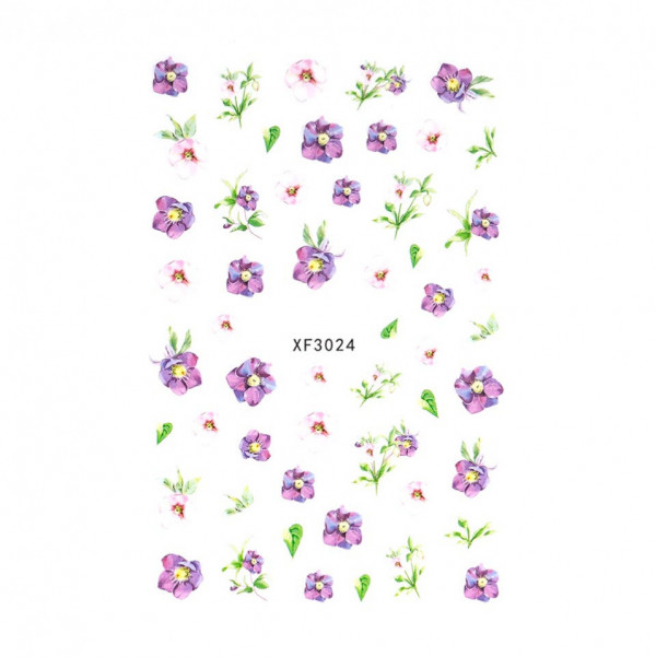 Poze Abtibilduri unghii SensoPRO Art in Bloom, model XF3024