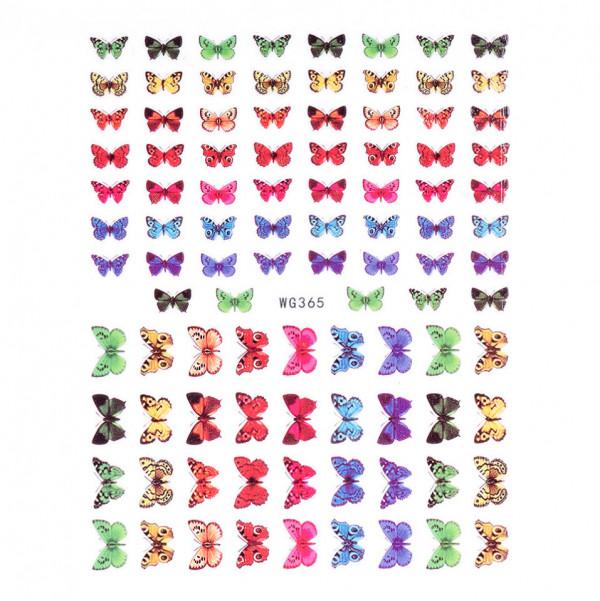 Poze Abtibilduri unghii SensoPRO Magic Butterfly, model WG365