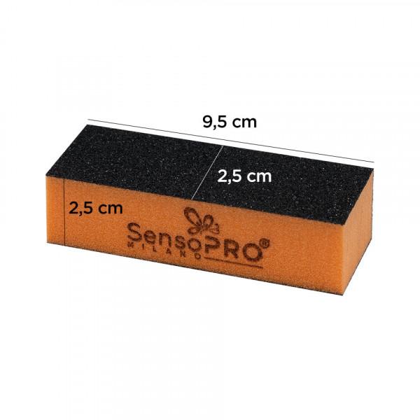 Poze Buffer Unghii granulatie medie SensoPRO Milano, portocaliu