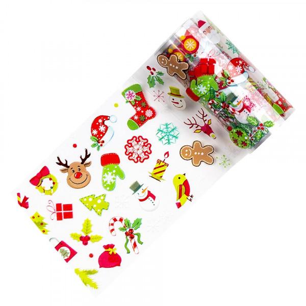 Poze Folie de Transfer Unghii LUXORISE #339 Christmas Vibes