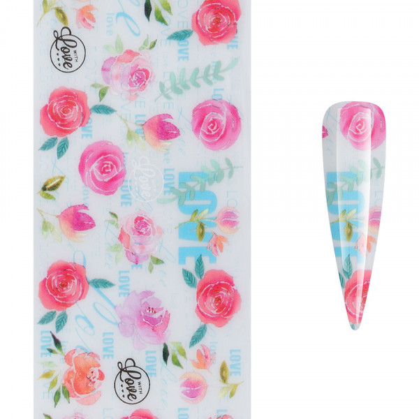 Poze Folie de Transfer Unghii LUXORISE #467 Lovely Flowers