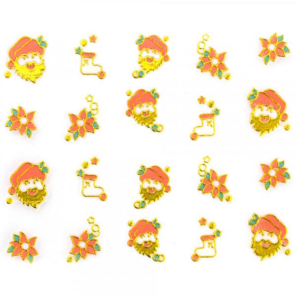 Poze Folie Sticker 3D unghii, model xj017