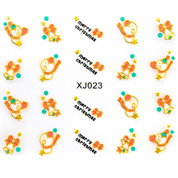 Poze Folie Sticker 3D unghii, model xj023
