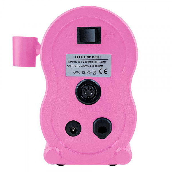 Poze Freza Unghii Profesionala XPERT Ultra - LUXORISE Germania, 35.000 RPM, Pink