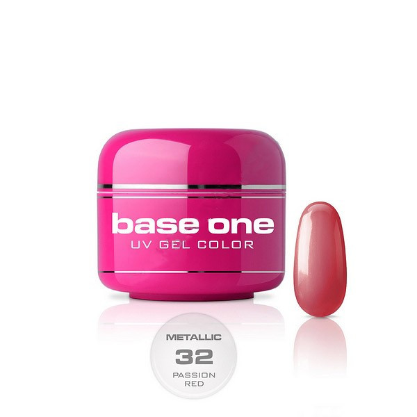 Poze Gel UV Base One Metallic Passion Red -  5 gr
