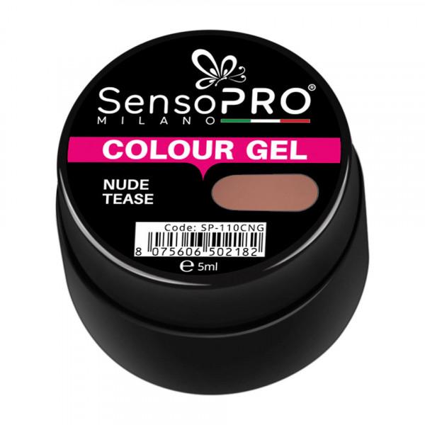 Poze Gel UV Colorat Nude Tease 5ml, SensoPRO Milano