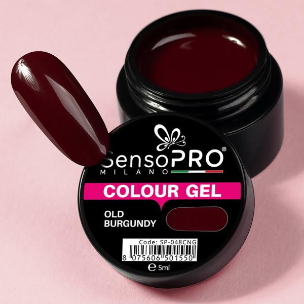 Poze Gel UV Colorat Old Burgundy 5ml, SensoPRO Milano