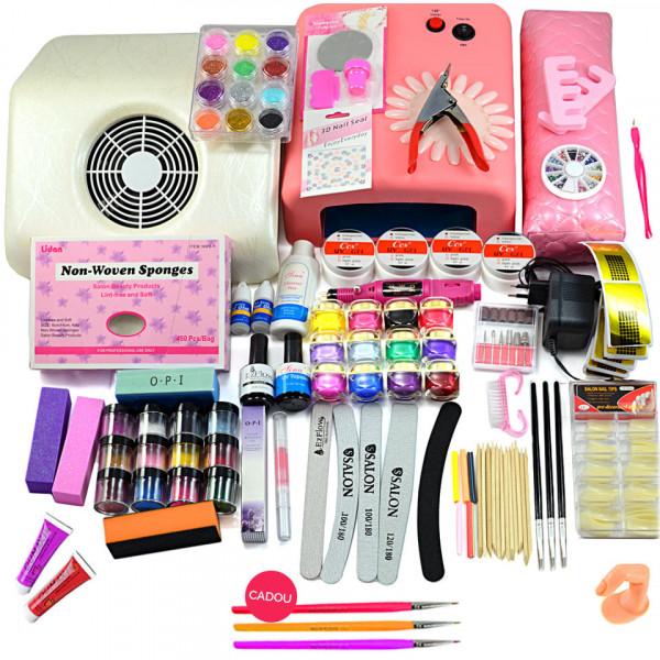 Poze Kit Unghii False cu Gel UV - Promotie #19 + Cadou Set 3 Pensule Nail-Art