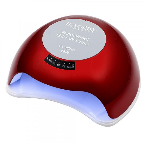 Poze Lampa UV LED Portabila 48W cu ACUMULATOR + Ventilator, LUXORISE Germania - Culoare Rosu