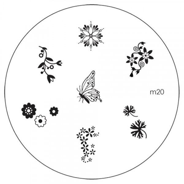Poze Matrita Metalica Stampila Unghii M20 - Nature