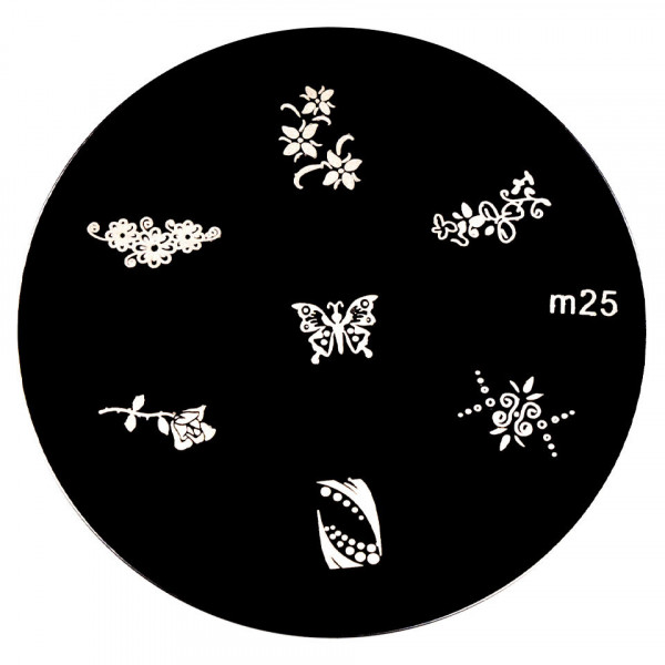 Poze Matrita Metalica Stampila Unghii M25 - Nature