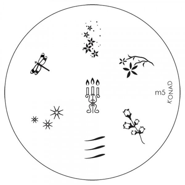 Poze Matrita Metalica Stampila Unghii M5 - Nature