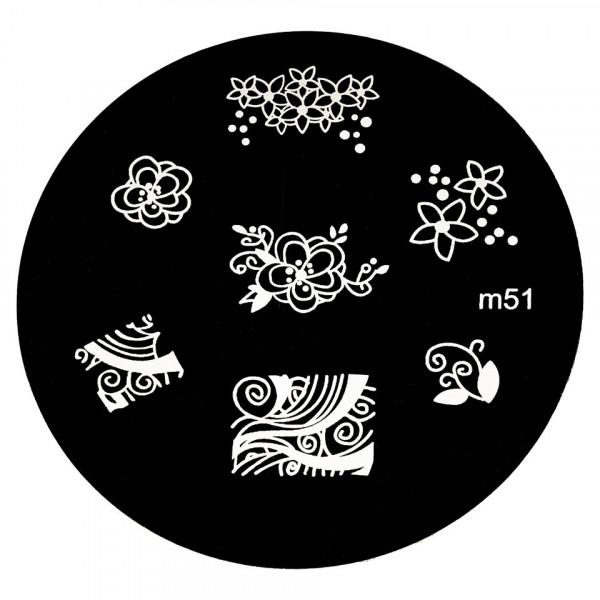 Poze Matrita Metalica Stampila Unghii M51 - Nature