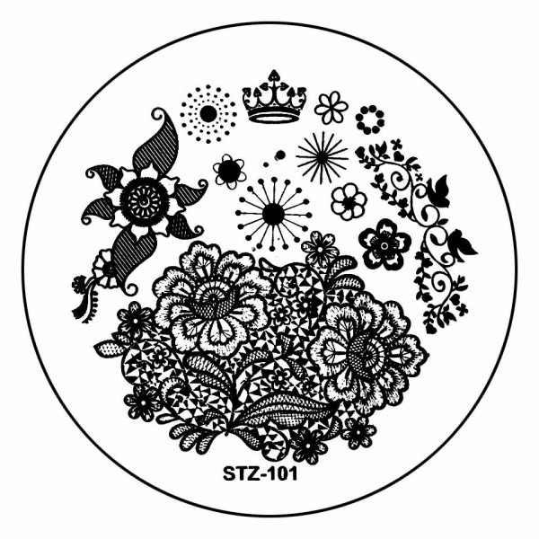 Poze Matrita Metalica Stampila Unghii STZ-101 - Nature
