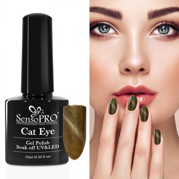 Poze Oja Semipermanenta Cat Eye SensoPRO 10ml - #038 Green Time