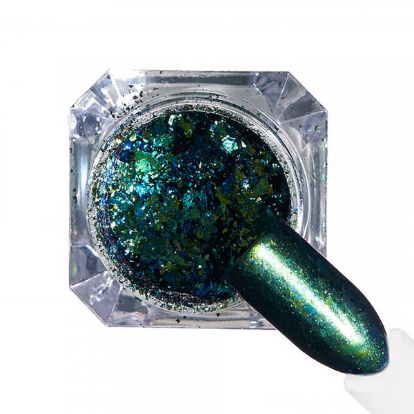 Poze Pigment unghii Ice Effect #70 cu aplicator - LUXORISE