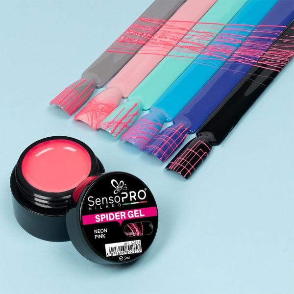 Poze Spider Gel SensoPRO Neon Pink, 5 ml