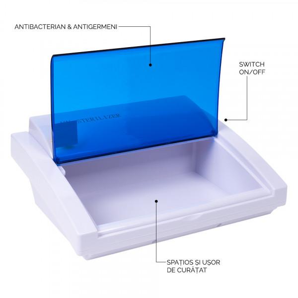 Poze Sterilizator UV mare cu trapa si gratar pentru ustensile manichiura si coafor