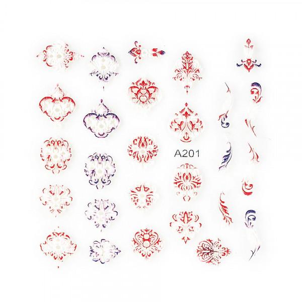 Poze Sticker 3D Unghii LUXORISE Artistry A201