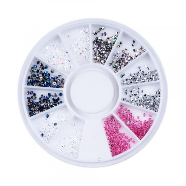Poze Strasuri Unghii Forma Diamant Diverse Culori - Carusel Strasuri
