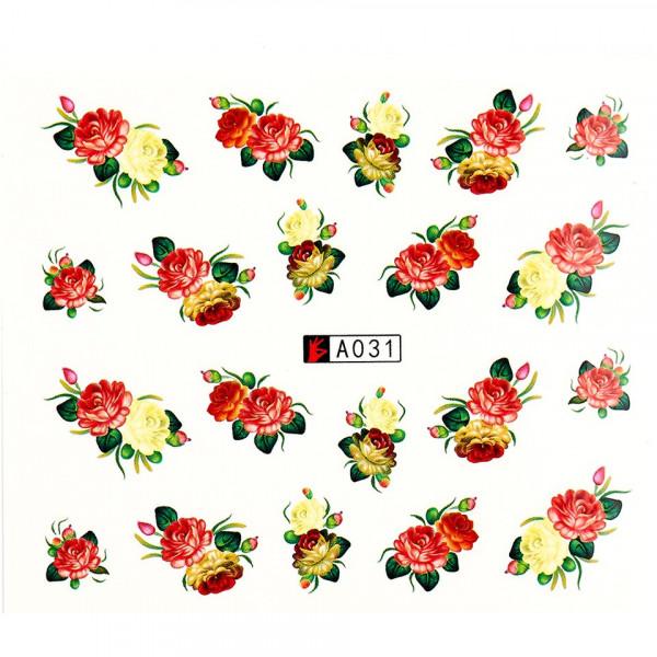 Poze Tatuaj unghii A031 flori