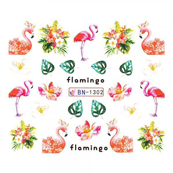 Poze Tatuaj unghii LUXORISE, Flamingo BN-1302