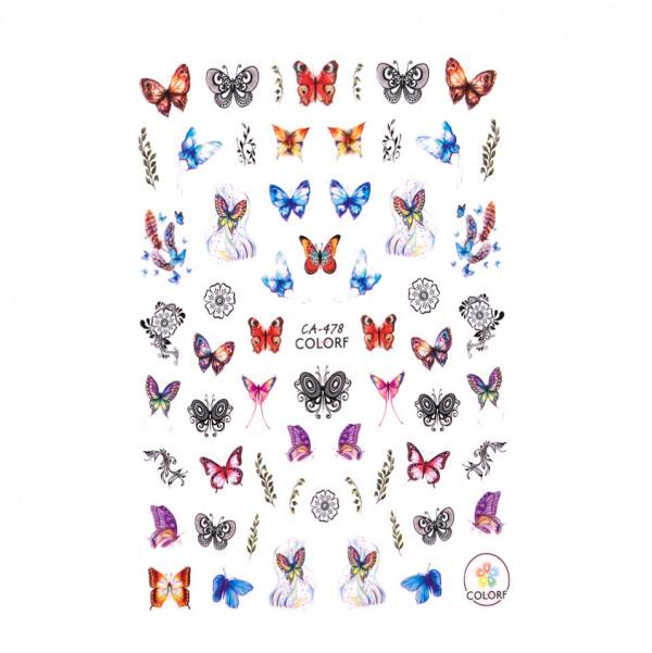 Poze Abtibilduri unghii SensoPRO Magic Butterfly, model CA478