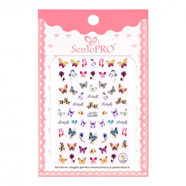 Poze Abtibilduri unghii SensoPRO Magic Butterfly, model CA672