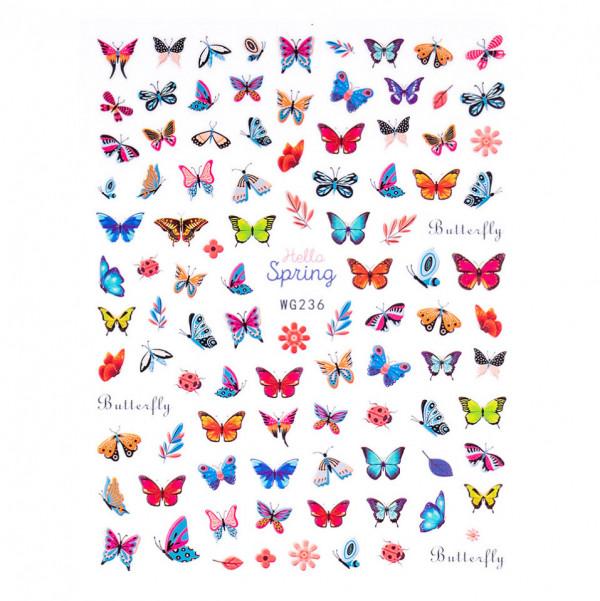 Poze Abtibilduri unghii SensoPRO Magic Butterfly, model WG236
